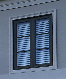Outswing window exterior view-front