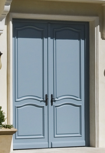 double entry doors with molding